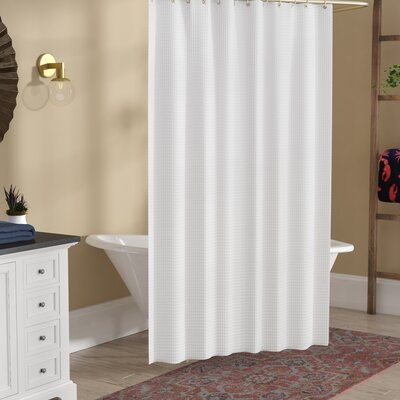 The Twillery Co. Maddox 100% Cotton Waffle Cotton Shower Curtain ...