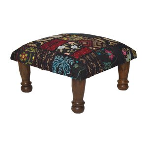 Patchwork and Embroidered Ottoman by Divine Designs