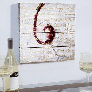 Wine List Textual Art On Plaque