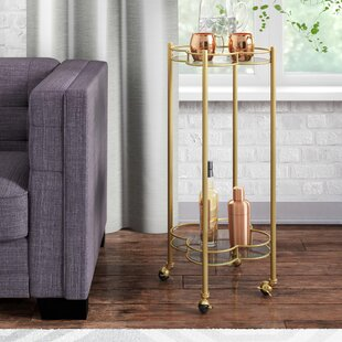Teagan 2 Tier Quatrefoil Bar Cart