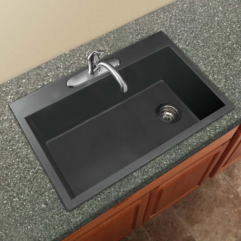 single bowl kitchen sink drop in transolid radius 33 quot x 22 quot granite single bowl drop in 9304