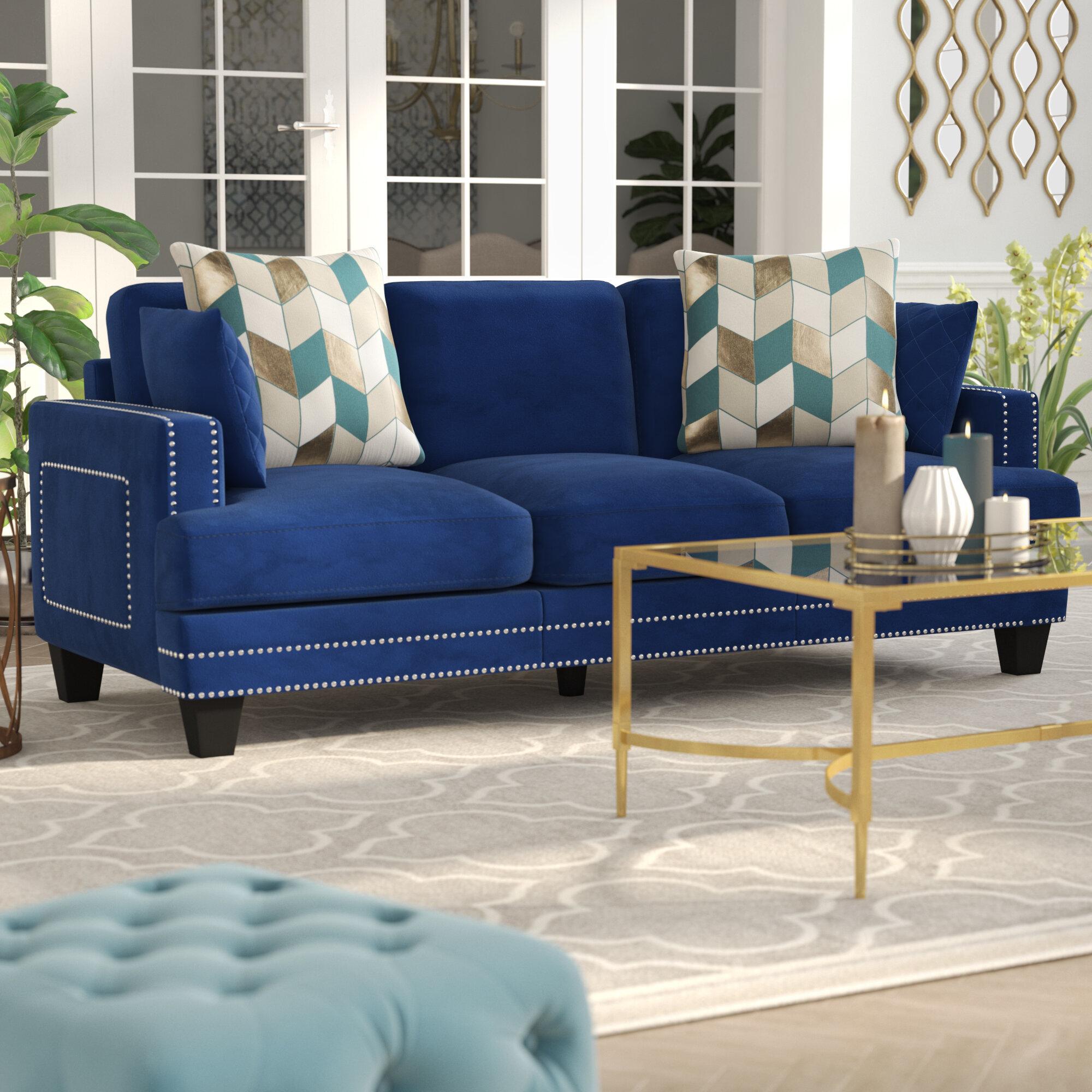 Willa Arlo Interiors Dia Modern Nailhead Sofa U0026 Reviews | Wayfair