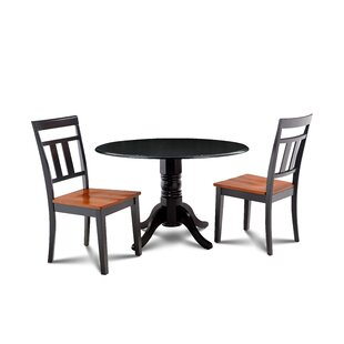 Percival 3 Piece Drop Leaf Solid Wood Dining Set