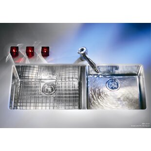 kubus 42 94   x 17 94   double bowl kitchen sink 42 inch kitchen sink   wayfair  rh   wayfair com