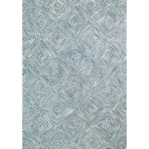 Stasia Hand Tufted 100% Wool Blue/Ivory Area Rug