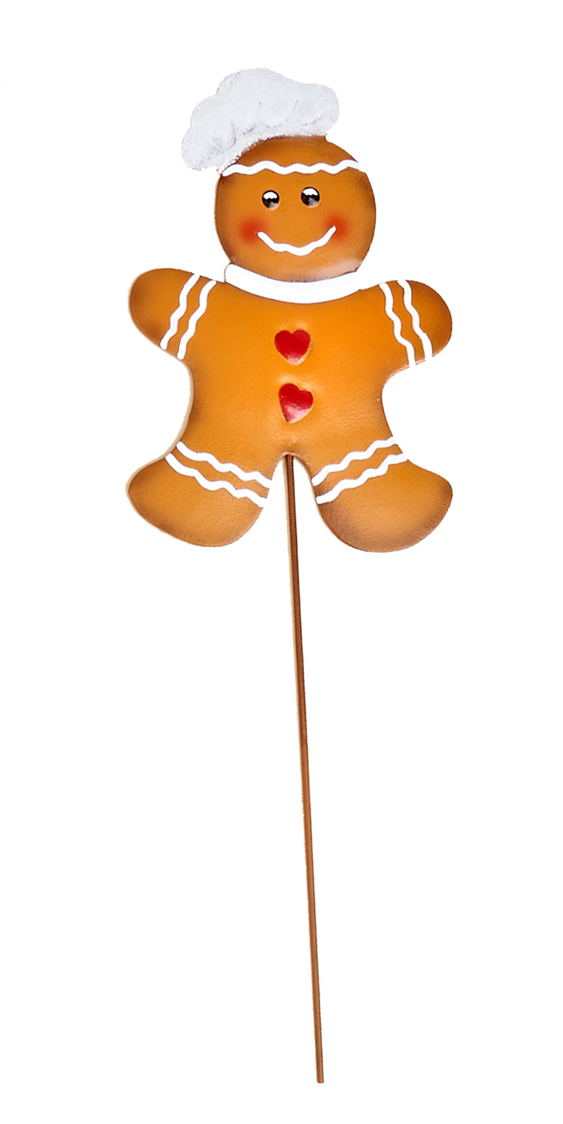 Metal Christmas Gingerbread Man On Stake