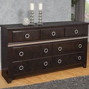 Borden 7 Drawer Double Dresser by Everly Quinn
