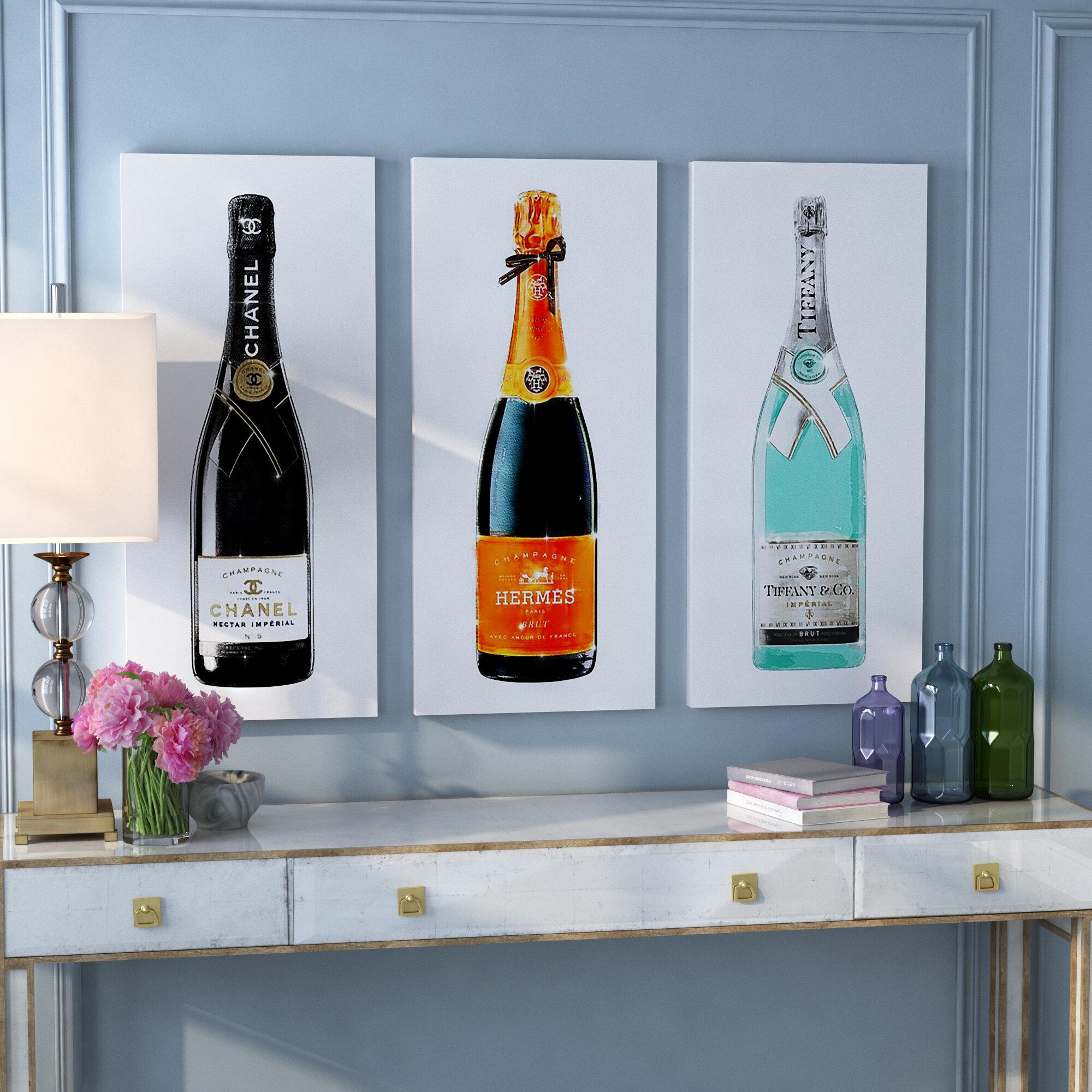 Willa Arlo Interiors \'Champagne Trio Set\' Graphic Art Print Multi ...