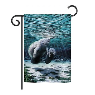 Manatees 2 Sided Vertical Flag