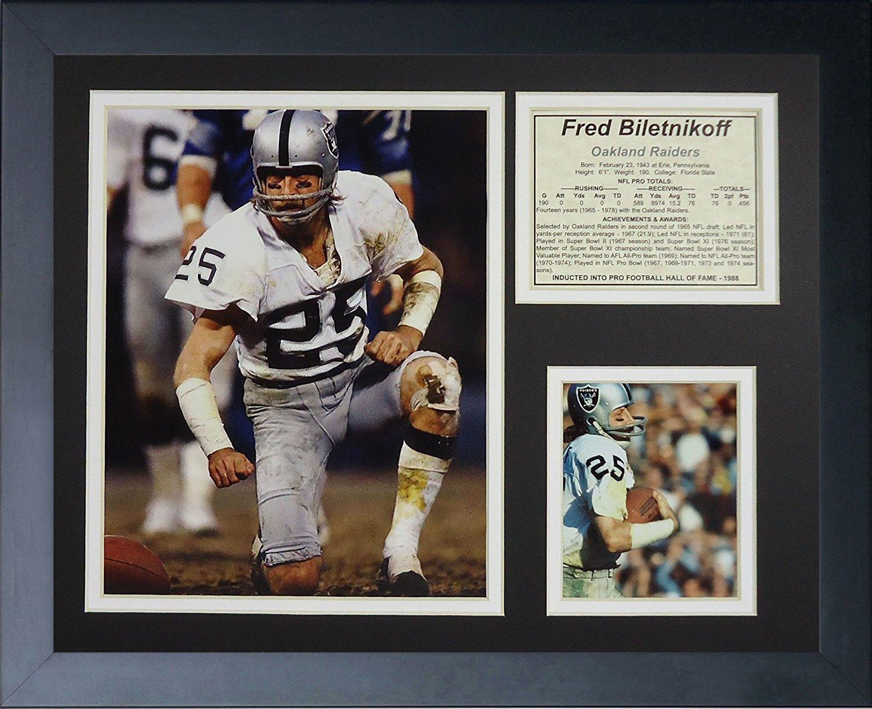 size 40 75d69 52e40 Fred Biletnikoff Framed Memorabilia