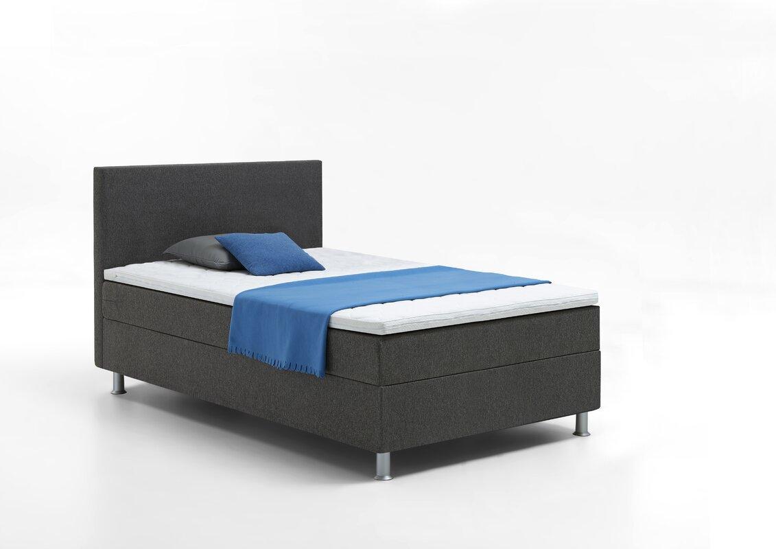 atlantic home collection boxspringbett edison mit topper. Black Bedroom Furniture Sets. Home Design Ideas