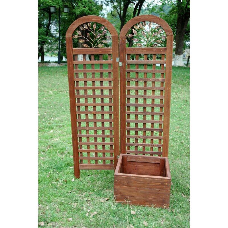 Merry Products Cedar Planter Box With Trellis Wayfair