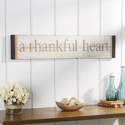 Thankful Heart Wall Décor