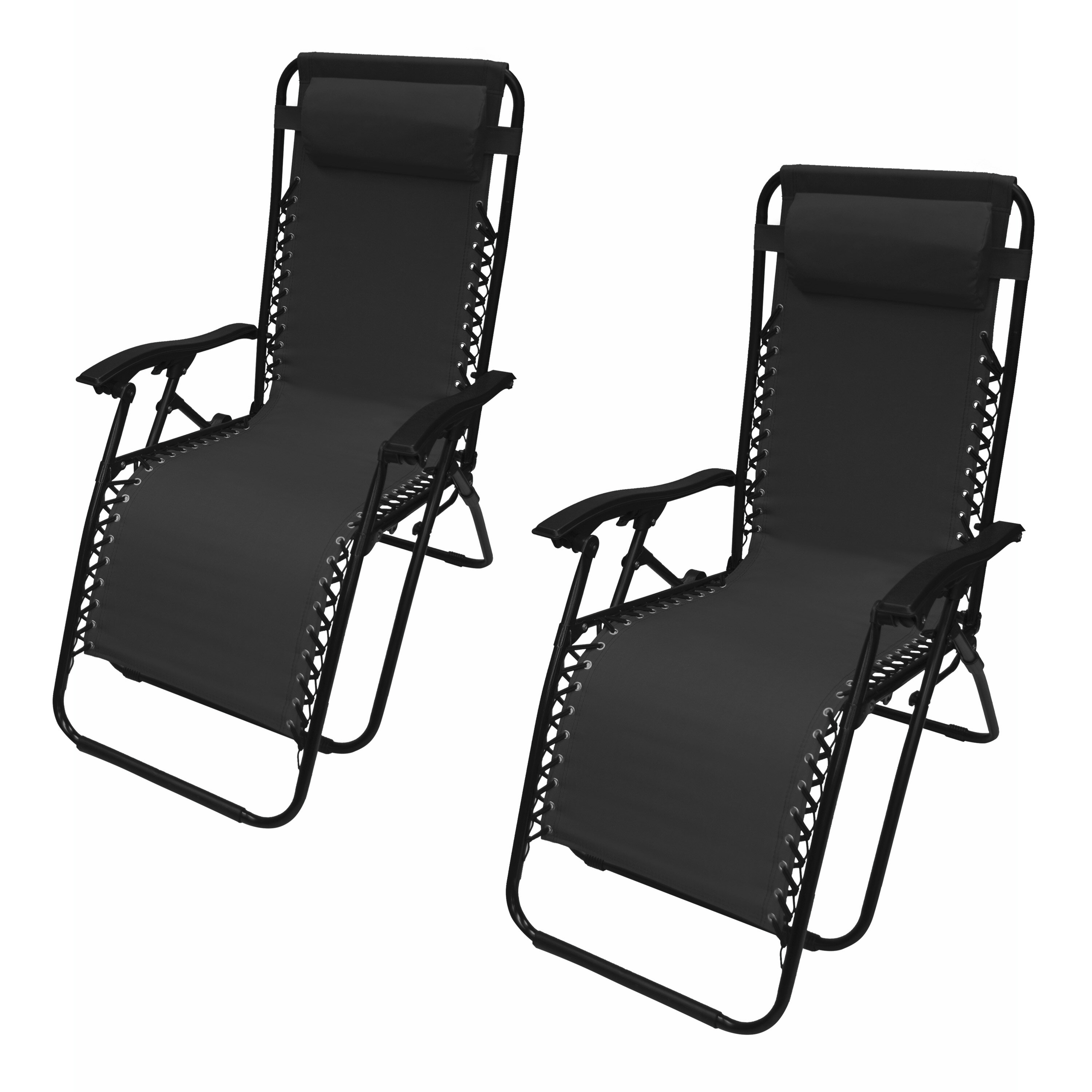 Kaylin reclining zero gravity chair with cushion set of 2