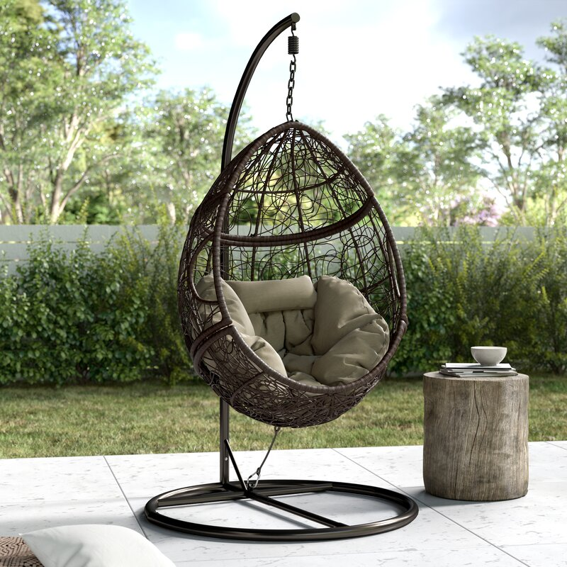 T Austin Design Dawson Outdoor Basket Swing Chair With Stand Reviews Wayfair