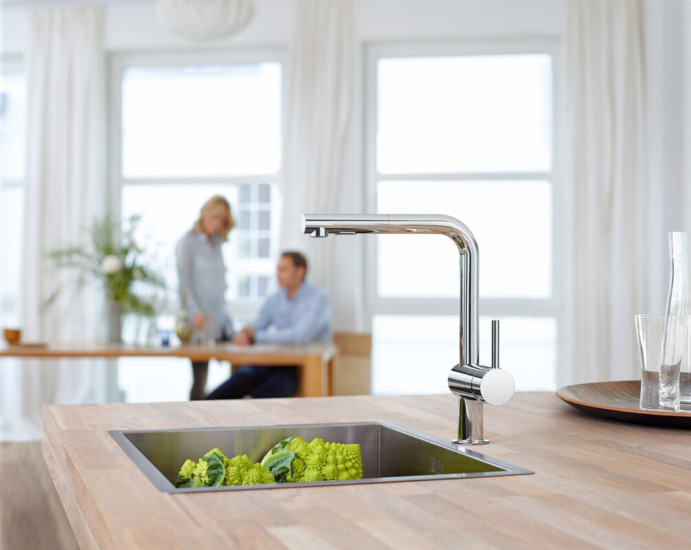 Grohe Minta Single Handle Pull-Out Kitchen Faucet & Reviews | Wayfair