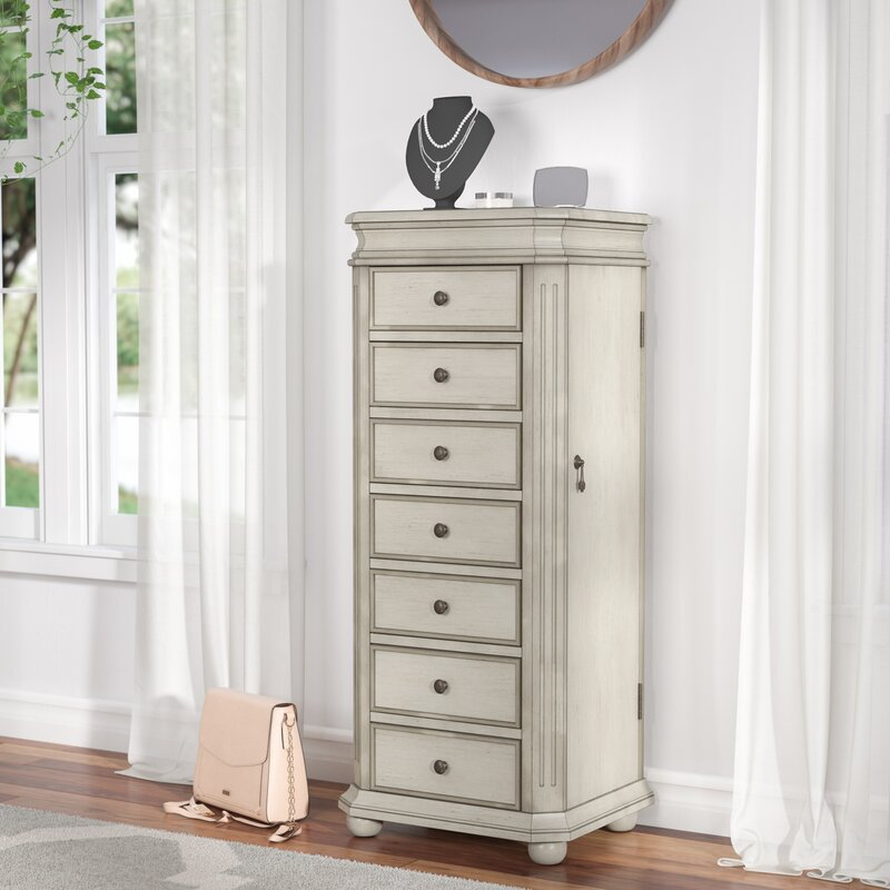 Lark Manor Rayane Free Standing Jewelry Armoire Reviews Wayfair