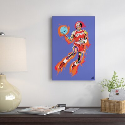 East Urban Home Jumpman Graphic Art On Wrapped Canvas Reviews