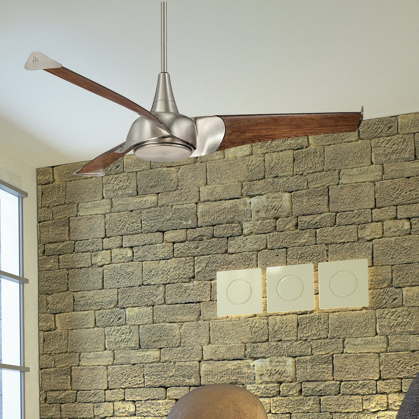 "Savoy House 55"" Ariel 3 Blade Ceiling Fan & Reviews"