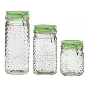 Emma Hobnail 3 Piece Kitchen Canister Set