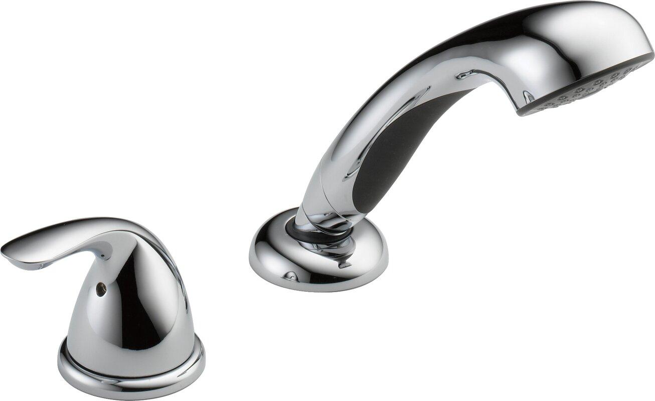 Delta Classic Single Handle Deck Mount Roman Tub Faucet & Reviews ...