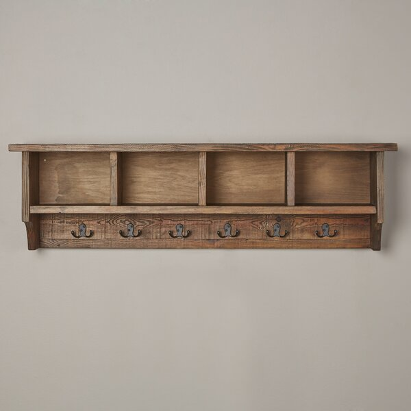 Mistana Veropeso Wall Mounted Coat Rack With Storage Cubbies Reviews Wayfair