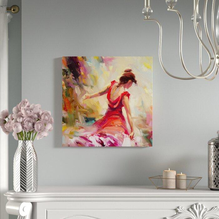 House Of Hampton Dancer Painting On Canvas Reviews Wayfairca