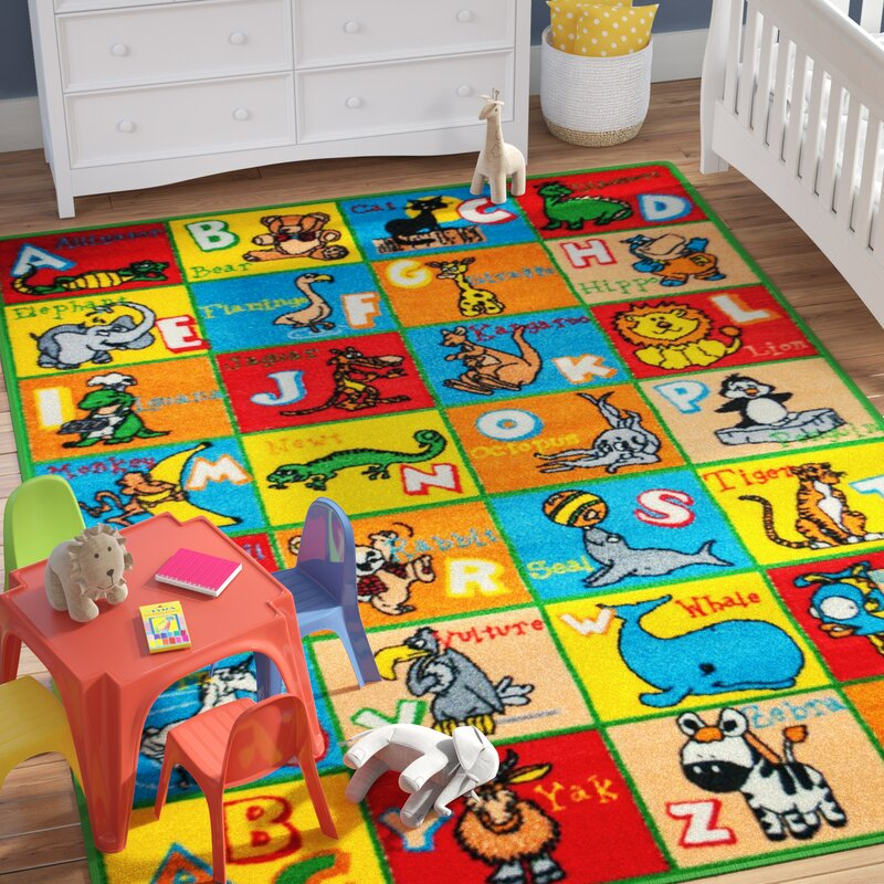 Small Abc Rug: Zoomie Kids Angelique Learn ABC / Alphabet Letters With