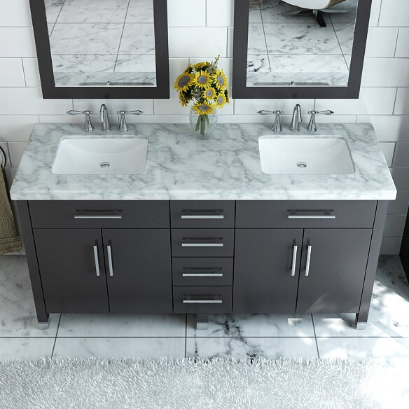 double bathroom vanity set. Rana 59  Double Bathroom Vanity Set Reviews AllModern