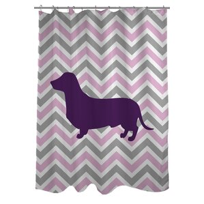 Superb Dachshund Woven Polyester Shower Curtain