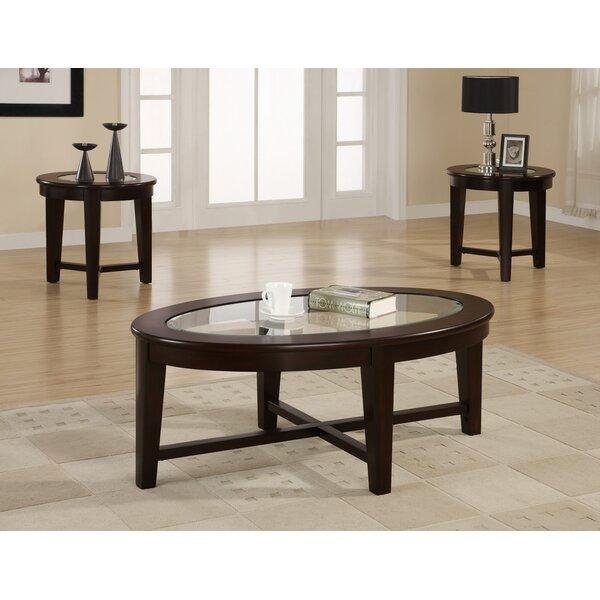 wildon home ® amalga 3 piece coffee table set & reviews | wayfair