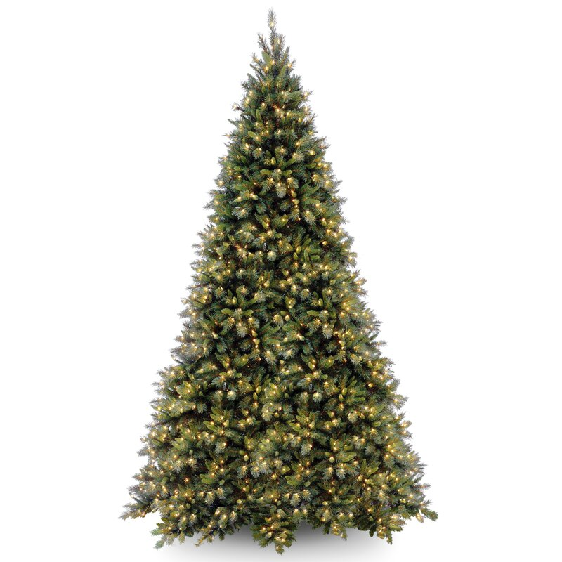 cd5e262ebc9 National Tree Co. Tiffany Fir 12  Green Artificial Christmas Tree with 1400 Clear  Lights and Stand   Reviews