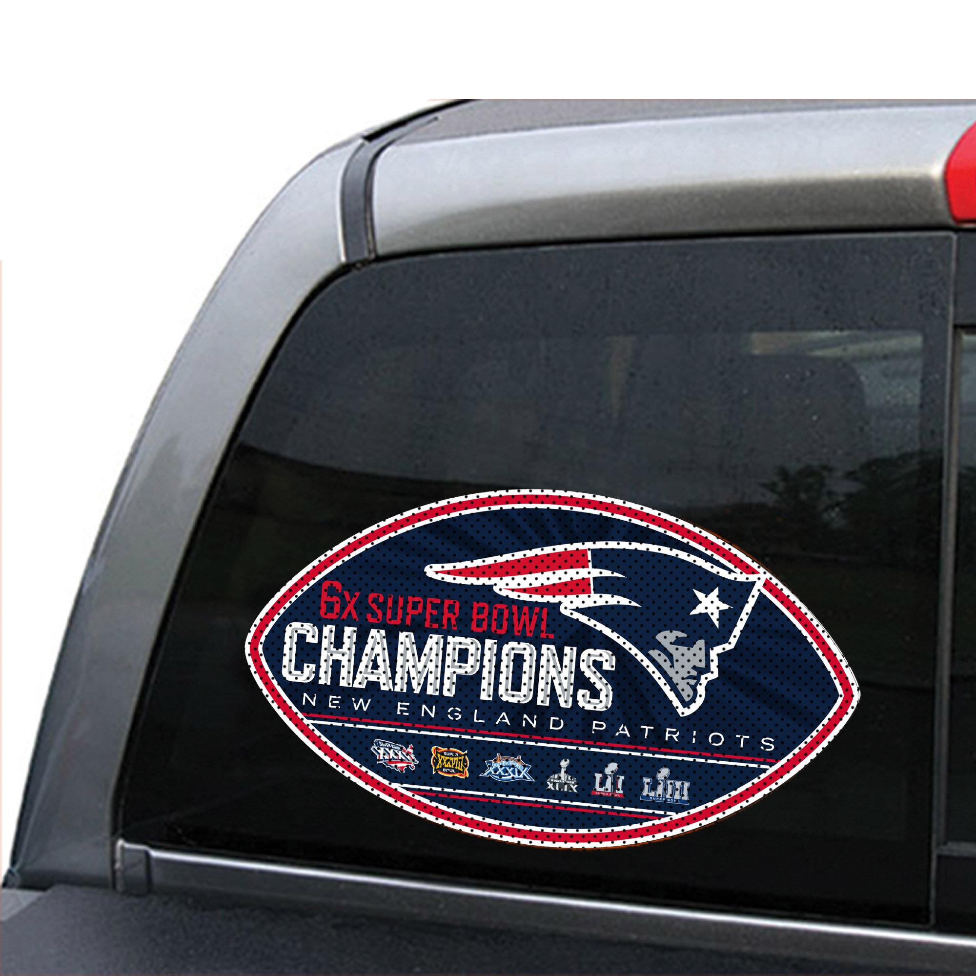 597820b6728b9 NFL New England Patriots Super Bowl LIII Champion Window Decal
