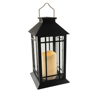Camila Solar 1 Light Outdoor Hanging Lantern With Led Candle