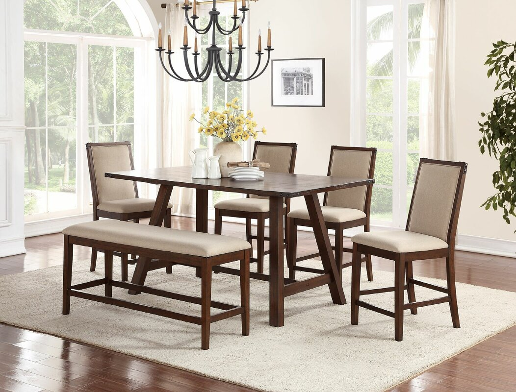 Marvelous Chandeleur 6 Piece Counter Height Dining Set