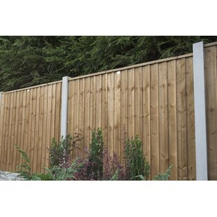 6' x 6' (1.83m x 1.83m) Featheredge Fence Panel (Set of 3) by Bel Étage