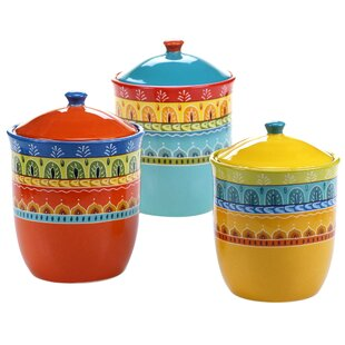 Valencia 3 Piece Kitchen Canister Set