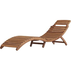 Elegant Tifany Wood Outdoor Chaise Lounge
