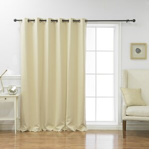 Scarsdale Extra Solid Blackout Thermal Grommet Single Curtain Panel Part 89