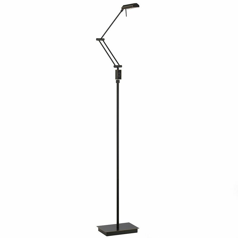Abchomecollection 69 5 Led Swing Arm Floor Lamp With Dimmer Switch Wayfair