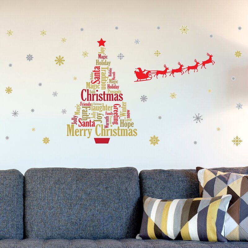 The Holiday Aisle English Quotes Santa's Sleigh Christmas Tree