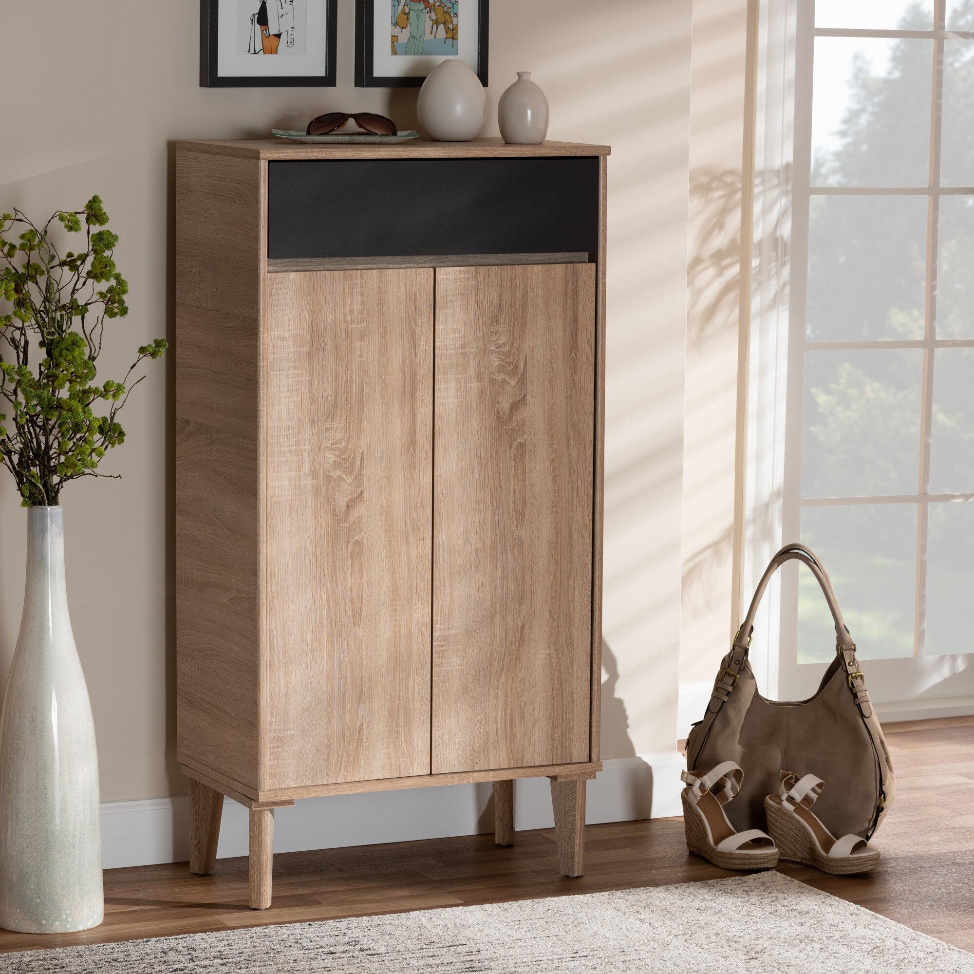 Union Rustic 2 Door Wood Entryway 10 Pair Shoe Storage Cabinet U0026 Reviews |  Wayfair