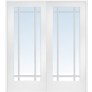 Interior MDF Glass Prehung French Doors