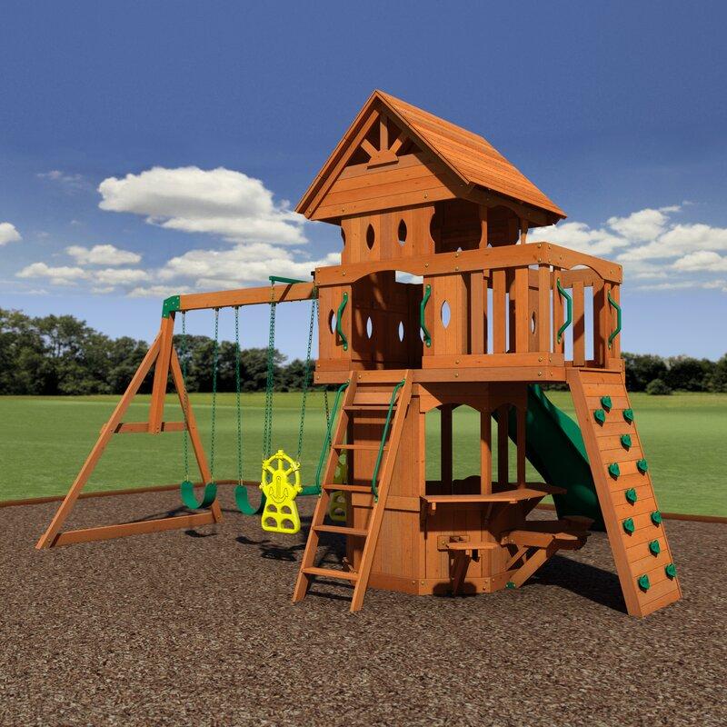 Backyard Discovery Woodland All Cedar Swing Set & Reviews ...