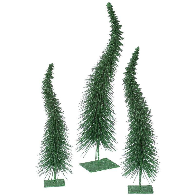 3 Piece Glitter Curved Christmas Tree Set & Reviews | Joss & Main