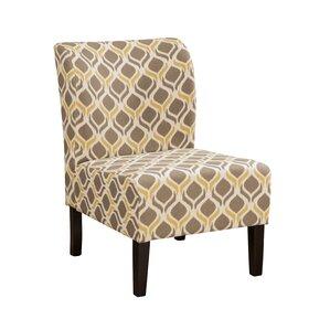 Honnally Gunmetal Slipper Chair by Signature..