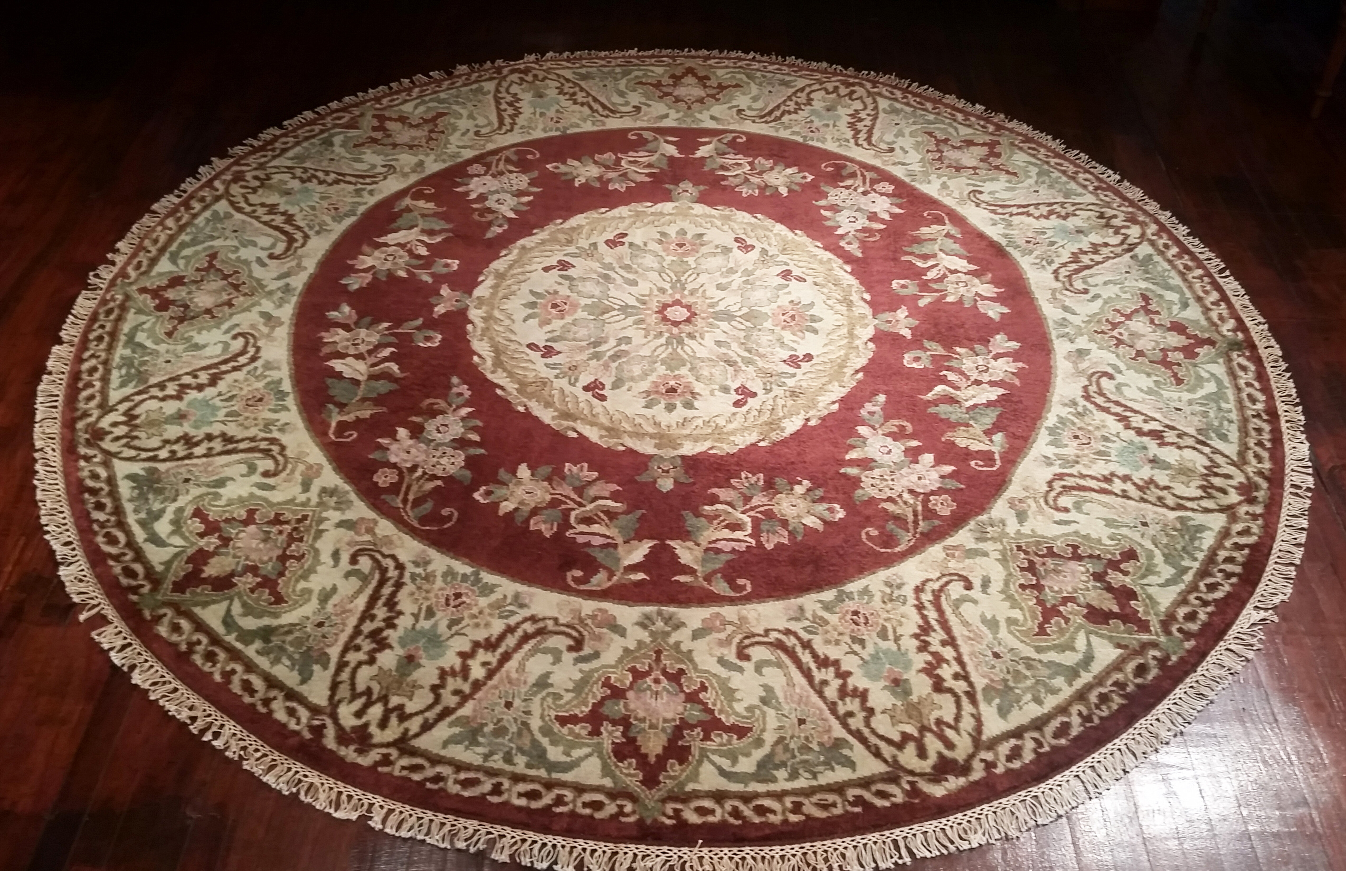 American Home Rug Co Signature Heirloom Hand Knotted Wool Burgundy