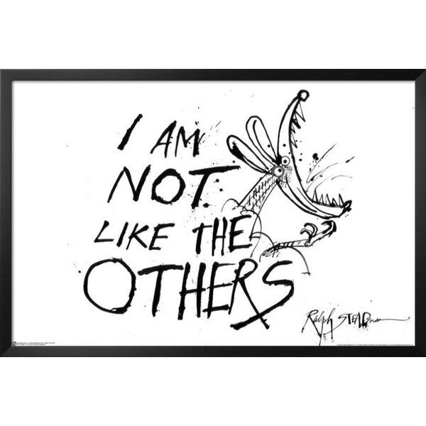 Hunter S  Thompson Quote 'I am Not Like the Others' by Ralph Steadman  Framed Textual Art