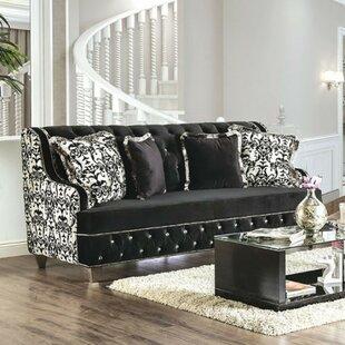 Lundberg Printed Velvet Sofa