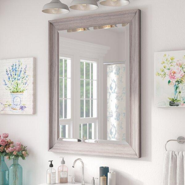 Lark Manor Bartouille Transitional Driftwood Beveled Bathroom Vanity Wall Mirror Reviews Wayfair